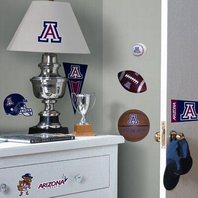 Room Mates Collegiate Sports 30 Piece Appliqué University of Arizona Wall Decal Set