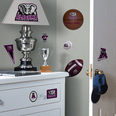 Room Mates Collegiate Sports 25 Piece Appliqué Alabama Crimson Tide Wall Decal Set