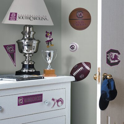 Room Mates Collegiate Sports 22 Piece Appliqué South Carolina Gamecocks Wall Decal Set