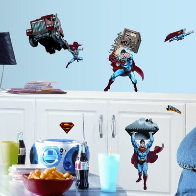 Room Mates Favorite Characters 21 Piece Superman Day Of Doom Wall Decal Set