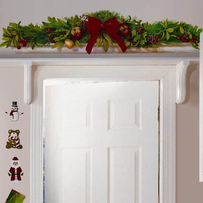 Seasonal Holiday Swag Wall Decal