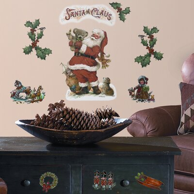 Room Mates Seasonal 22 Piece Santa Wall Decal Set