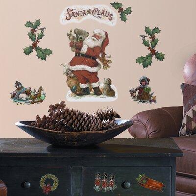 Room Mates Seasonal 22 Piece Santa Wall Decal Set