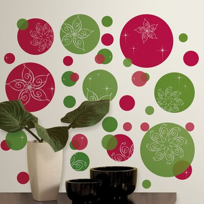 Room Mates Seasonal Festive Dots Wall Decal