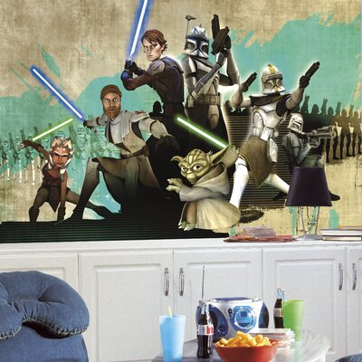 Room Mates Extra Large Murals Star Wars The Clone Wars Wall Decal