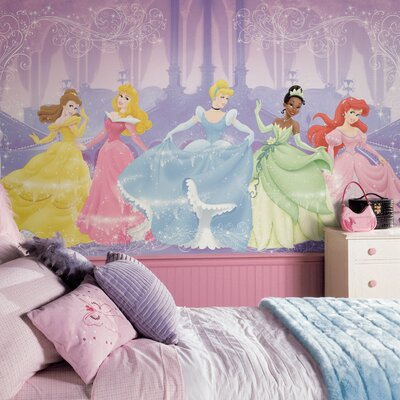 Room Mates Extra Large Murals Perfect Princess Chair Rail Wall Decal