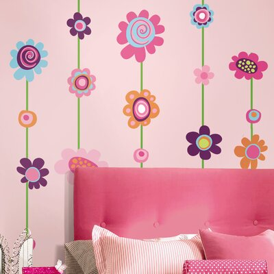 Room Mates Room Mates Deco Flower Stripe Wall Decal