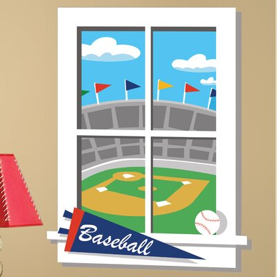 Room Mates Play Ball Window Wall Decal