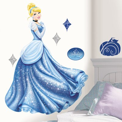 Room Mates Disney Princess Cinderella Glamour Giant Wall Decal