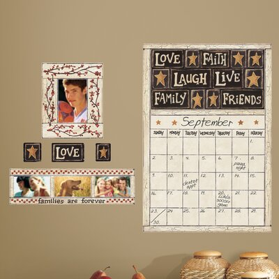 Room Mates Peel & Stick Giant Wall Decals/Wall Stickers Family and Friends Dry Erase Calendar Wall Decal