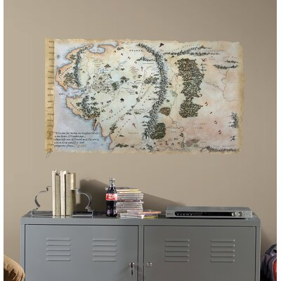 Room Mates Peel & Stick The Hobbit Middle Earth Map Giant Wall Decal