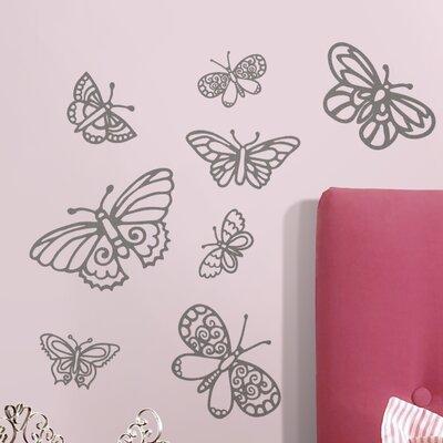 Room Mates Glitter Butterflies Wall Decal