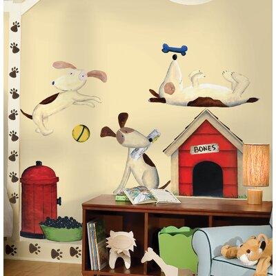 Room Mates Doggie Treats MegaPack Peel and Stick Wall Decal