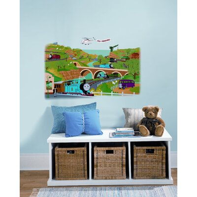 Room Mates Thomas and Friends Giant Peel and Stick Wall Decal
