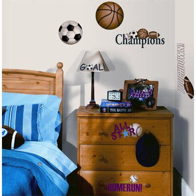 Room Mates Play Ball Peel and Stick Wall Sticker