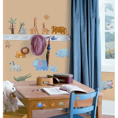 Room Mates Jungle Adventure Peel and Stick Wall Sticker