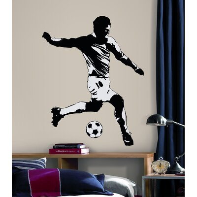 Room Mates Soccer Player Peel and Stick Wall Decal