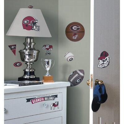 Room Mates University of Georgia Bulldogs Peel and Stick Wall Decal