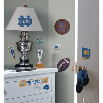 Room Mates Notre Dame Fighting Irish Peel and Stick Wall Decal
