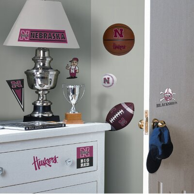 Room Mates Nebraska Huskers Peel and Stick Wall Decal