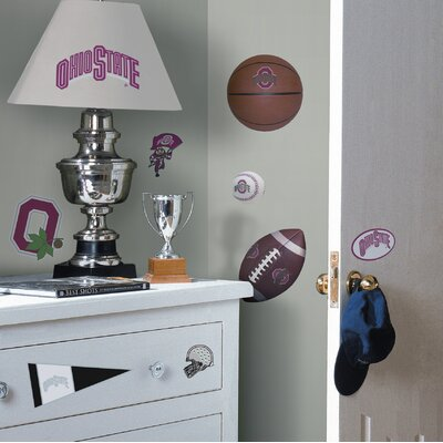 Room Mates Ohio State Buckeyes Peel and Stick Wall Decal