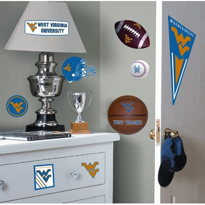Room Mates West Virginia University Peel and Stick Wall Decal