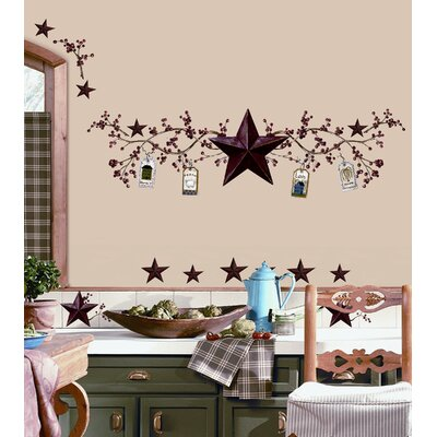 Room Mates Country Stars and Berries Peel and Stick Wall Decal