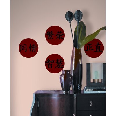 Room Mates Chinese Virtues Peel and Stick Wall Decal