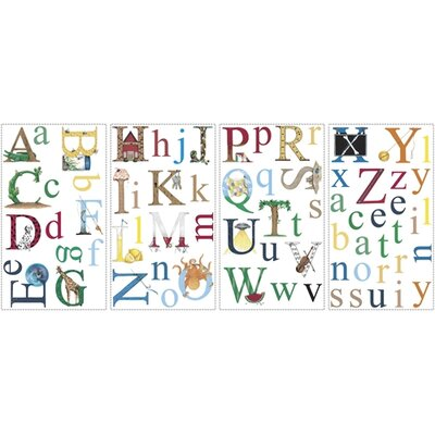 Room Mates Studio Designs 73 Piece Alphabet Wall Decal Set