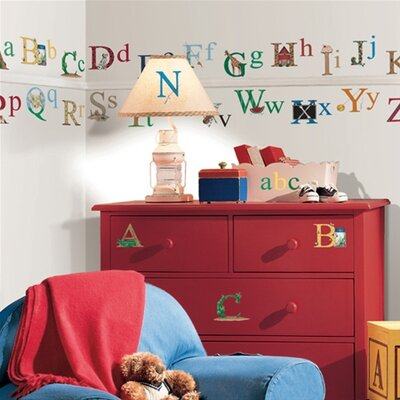 Room Mates Alphabet Peel and Stick Wall Sticker