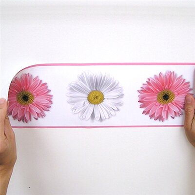 Room Mates Flower Power Peel and Stick Wall Border