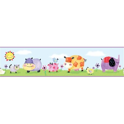 Polka Dot Piggy Peel and Stick Wall Border