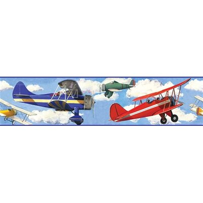 Vintage Planes Peel and Stick Wall Border