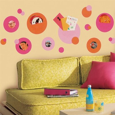 Room Mates Peel and Stick Wall Pocket in Pink and Orange