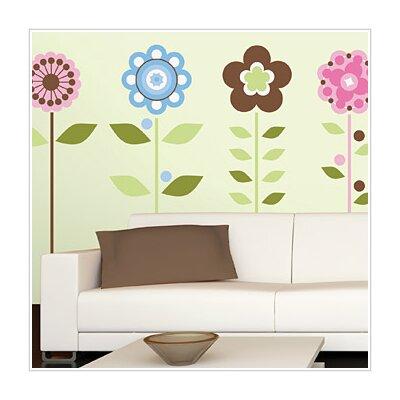 Room Mates Room Mates 45 Piece Deco Growing Flowers Wall Decal Set