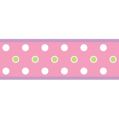 Room Mates Studio Designs Dot Wall Border in Pink