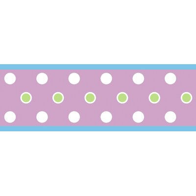 Room Mates Studio Designs Dot Wall Border in Purple