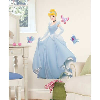 Room Mates Licensed Designs Cinderella Giant Peel and Stick Wall Decal