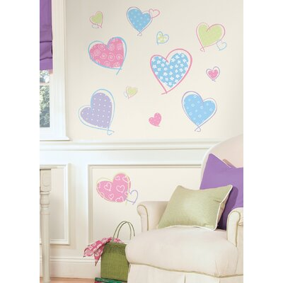 Room Mates Studio Designs Hearts Peel and Stick Wall Decal
