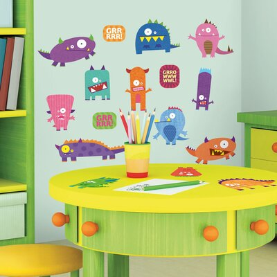 Room Mates Studio Designs Monsters Peel and Stick Wall Decal