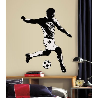 Room Mates Studio Designs Soccer Player Peel and Stick Giant Wall Decal