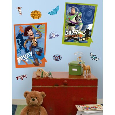 Room Mates Licensed Designs Buzz and Woody Peel and Stick Giant Poster