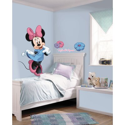 Room Mates Licensed Designs Minnie Mouse Peel and Stick Giant Wall Decal