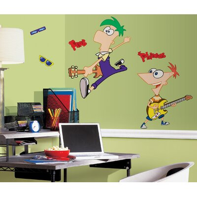 Room Mates Licensed Designs Phineas and Ferb Peel and Stick Giant Wall Decal