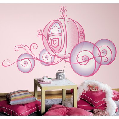 Room Mates Licensed Designs Princess Carriage Peel and Stick Giant Wall Decal