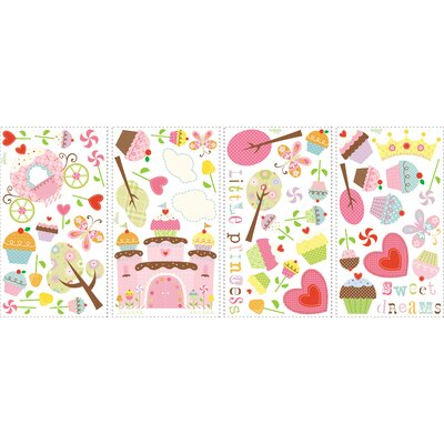 Room Mates 56-Piece Happi Cupcake Wall Decal