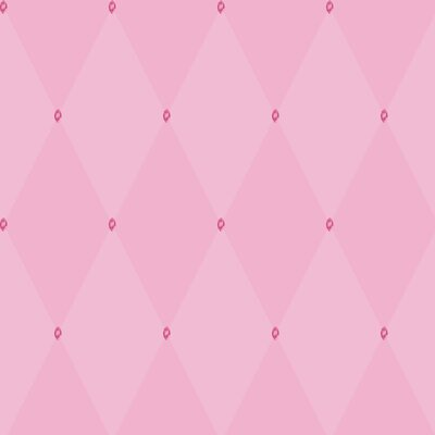 Room Mates Harlequin Wallpaper in Pink with Pink Gems