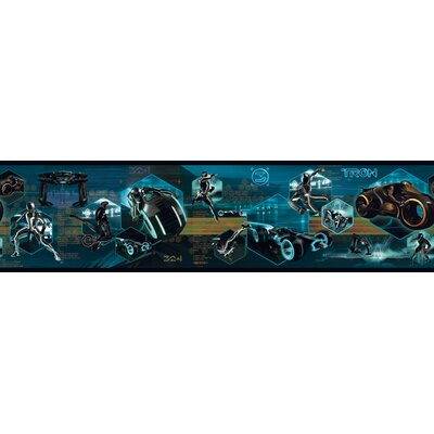 Room Mates Tron Legacy Border in Black
