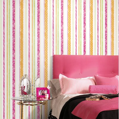 Room Mates Paisley Stripe Wallpaper