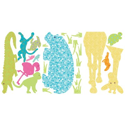 Room Mates Animal Silhouettes Giant Peel and Stick Wall Sticker